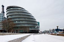 London City Hall In Snow Royalty Free Stock Photos