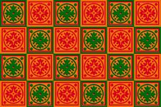 Free Gift Box Wrap Red, Orange & Green Stock Images - 17590864