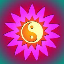 Free Ying Yang Flower & Sun Royalty Free Stock Photography - 17590997