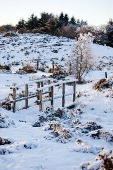 Free Bridge In Winter Royalty Free Stock Image - 17591346