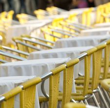 Free Yellow Chairs Royalty Free Stock Image - 17592336