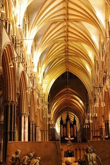 Free Inside View Of Licoln Cathedral Stock Image - 17593301