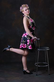 Free Retro 50s Style Female Stock Photos - 17593343