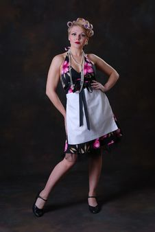 Free Retro 50s Style Female Stock Photo - 17593350