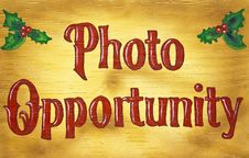 Free Wood Photo Opportunity Sign Stock Images - 17594034