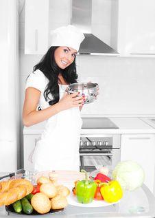 Free Girl Cooking Stock Image - 17594611
