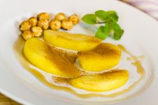Free Compote Of Pears , With Caramelized Hazelnuts Stock Photography - 17594792