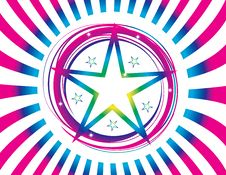 Abstract Color Illustration  Star Product Stock Image