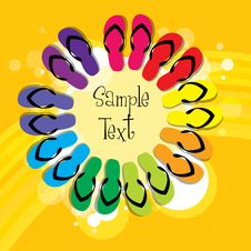 Free Colorful Slippers Stock Photo - 17595480