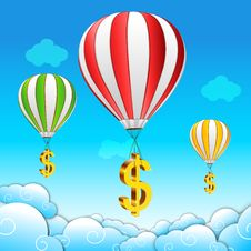 Free Dollar Parachute Stock Photography - 17595482