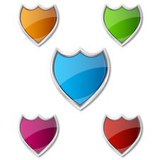 Free Colorful Shields Stock Photo - 17595510