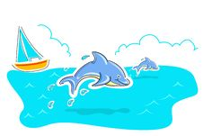 Free Jumping Dolphin Stock Photography - 17595542