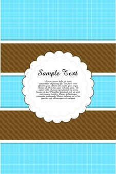 Free Color Greeting Card Royalty Free Stock Photo - 17595555