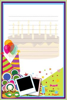Free Birthday Card Royalty Free Stock Images - 17595589