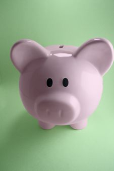 Free Pink Piggy Bank Stock Image - 17595601