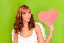 Free Valentine Heart Angel Stock Photos - 17596213