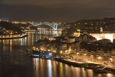 Oporto By Night Stock Photos