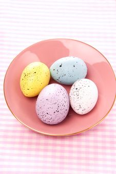 Free Easter Painted Colorful Eggs Stock Photo - 17596960