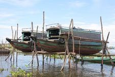 Free Boats On Tonle Lake Stock Images - 17597794