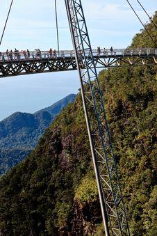 Free Walking Bridge In The Mountains On Lankawi Island Royalty Free Stock Photo - 17597965
