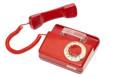 Free Red Old Classic Telephone Stock Images - 17598034