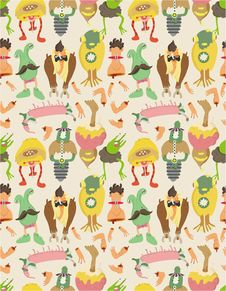 Free Seamless Monster Pattern Royalty Free Stock Images - 17598289