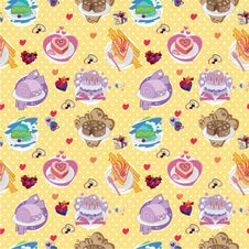 Free Seamless Cake Pattern Stock Images - 17598664