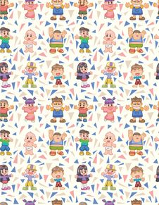 Free Seamless Child Pattern Stock Image - 17598901