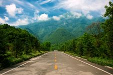 Road In The Mountain Area Stock Photography
