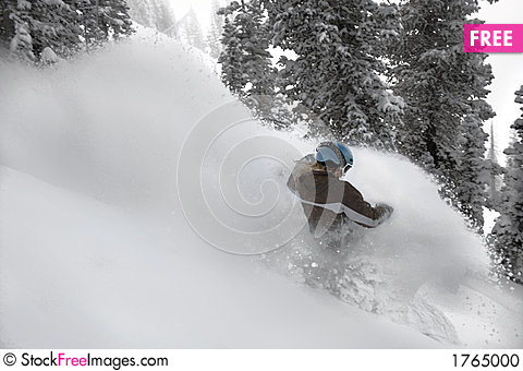 Free Women Snow Boarder 2 In Action Stock Photo - 1765000