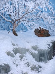 Northern Polar Night Stock Image