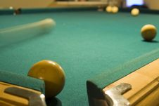 Free Shooting A Game Of Poor Or Billiards Royalty Free Stock Image - 1761276