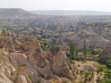 Sandstone Formations In Cappadocia Stock Photography