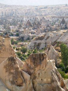 Sandstone Formations In Cappadocia Stock Image
