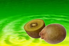 Free Stock Image Of Kiwi Juice Background Royalty Free Stock Photography - 1763817