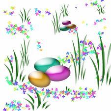 Easter Egg Hunt Art Stock Photography
