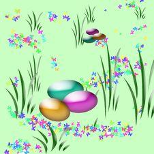 Easter Egg Hunt Art Stock Images
