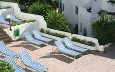 Free Sunlounges Royalty Free Stock Image - 1766236