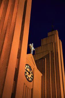 Free Akureyri Church At Night Stock Photo - 1768110