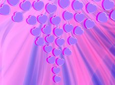 Free Violet Hearts Stock Images - 1768624