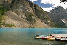 Free Moraine Lake Royalty Free Stock Photo - 1768855