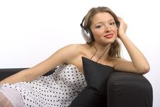 Free Woman Listening To The Music Stock Image - 1769101