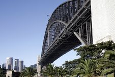 Under The Sydney Harbour Bridge Royalty Free Stock Photos