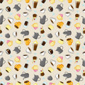 Free Seamless Coffee Pattern Stock Photography - 17600102
