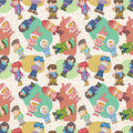 Free Seamless Winter People Pattern Royalty Free Stock Image - 17600196