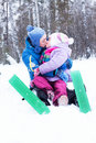 Free Happy Mother And Daughter In A Winter Park Royalty Free Stock Photography - 17601707