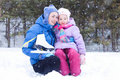 Free Happy Mother And Daughter In A Winter Park Stock Photo - 17601730