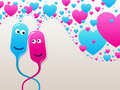Free Bubble-heads In Love Royalty Free Stock Images - 17602669