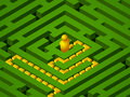 Free Green Maze Success Stock Photography - 17603982