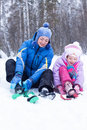 Free Happy Mother And Daughter In A Winter Park Royalty Free Stock Photo - 17606185